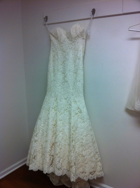 Beautiful Alencon Lace Wedding gown - custom made to fit you.