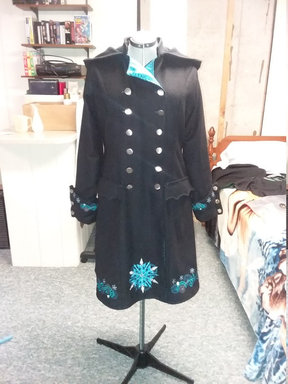 Custom Steampunk designed/embroidered wool coat