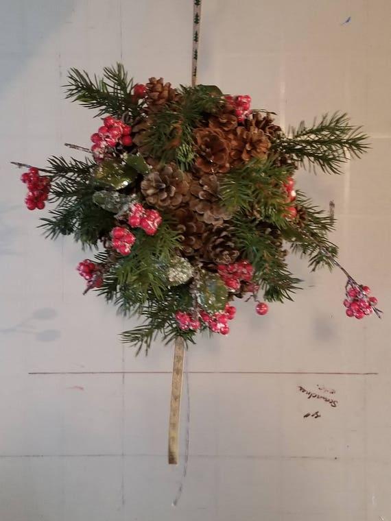 Pine cone kissing balls - Northern Christmas Joy