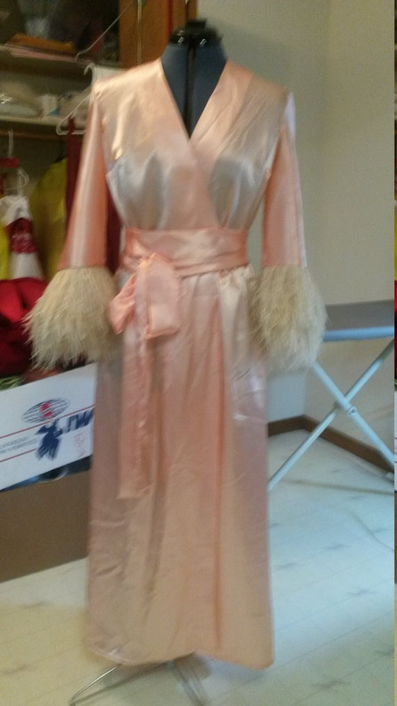 Silk and Feather Robe - Based on Miss Pettigrew Lives for a Day