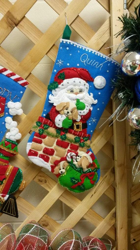 Handmade Custom Christmas Stockings - felt Bucilla Stockings your choice