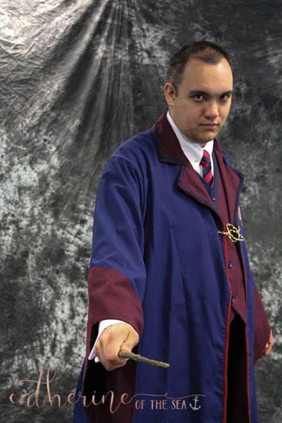 Ilvermorny School Robe, tie, vest and pants - designer interpretation of offical description