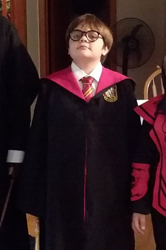 CHILD Wizard house robes - inspired by HP - most sizes ship within 2 days!