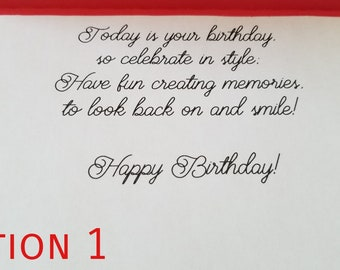 HAPPY BIRTHDAY Greeting Card VERSES For Birthday Listing This Is An Add On The Handmade Cards