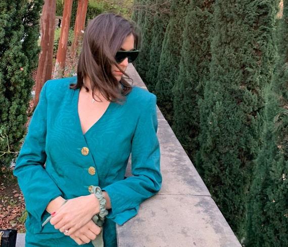 GIANFRANCO FERRE 80s Emerald Green Women's 2 Piece