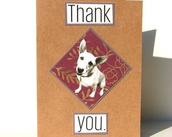 Happy Dog Thank You Appreciation Greeting Card