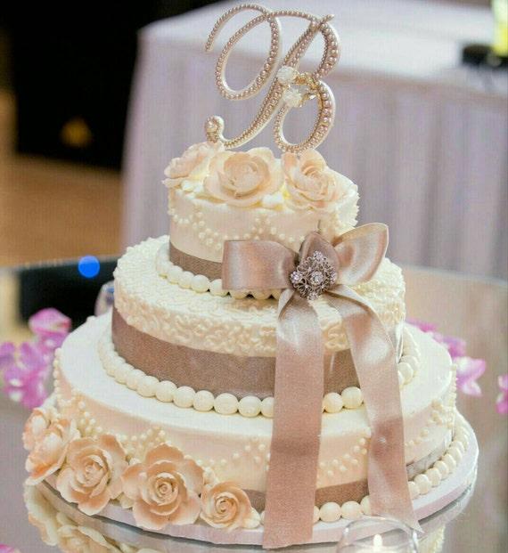 Items Similar To Wedding Cake Topper Letter Cake Topper