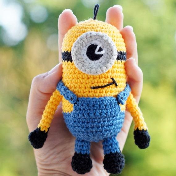Häkeln Sie Minion Spielzeug Stuart handgemachte gelbe Minion | Etsy