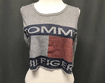 8866da9dd7f Tommy hilfiger crop top sweater | Etsy