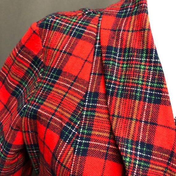 Vintage plaid Pendleton robe 70s tartan pajamas - image 2