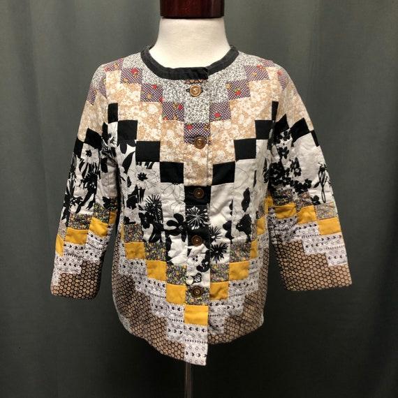 Amazing vintage quilt patchwork jacket quilt coat