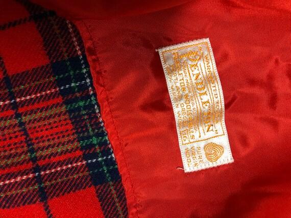 Vintage plaid Pendleton robe 70s tartan pajamas - image 3