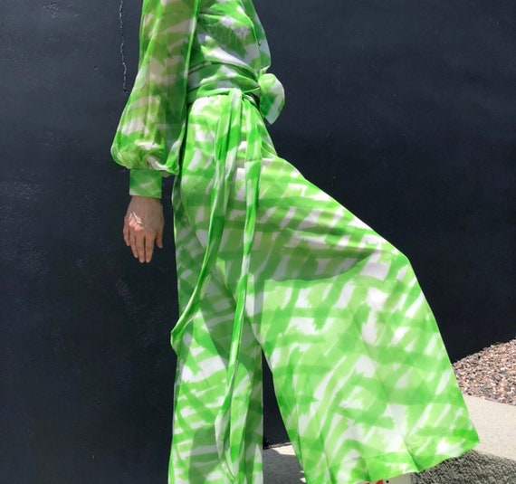Vintage 70s palazzo pants set by Fred Perlberg gr… - image 1