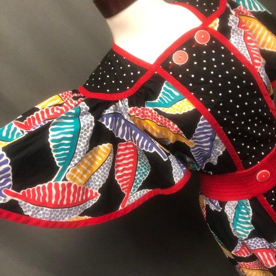 Vintage 80s 90s designer Jeanne Marc pattern polka