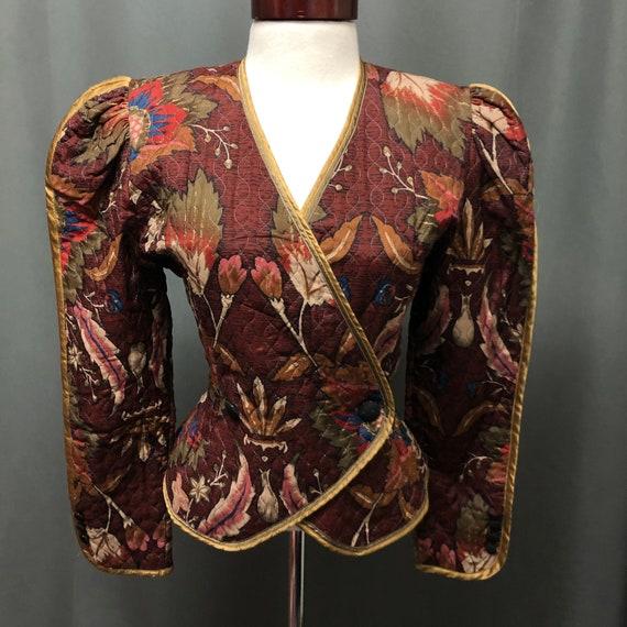 Vintage Jeanne Marc blazer 80s designer floral pri