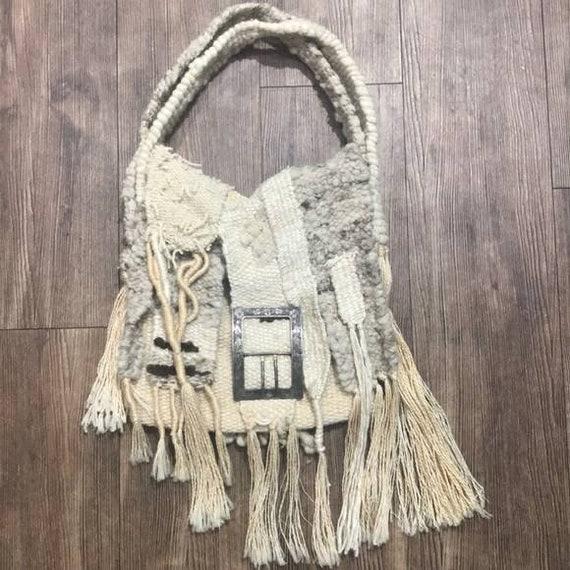 Vintage bohemian 70s style artist made retro bag h