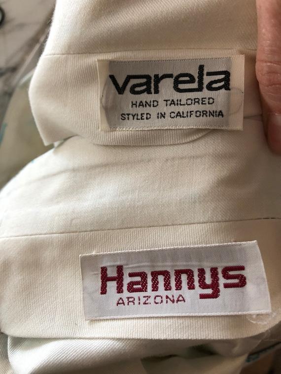 Vintage 70s rare men's polyester printed pants re… - image 5