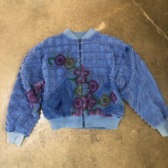 Vintage chenille handmade 70s bohemian coat 80s bo
