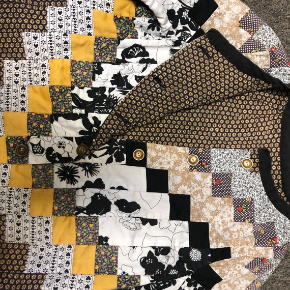 Amazing vintage quilt patchwork jacket quilt coat… - image 7
