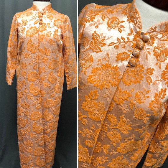 Vintage 60s brocade tapestry jacket 70s gold duste