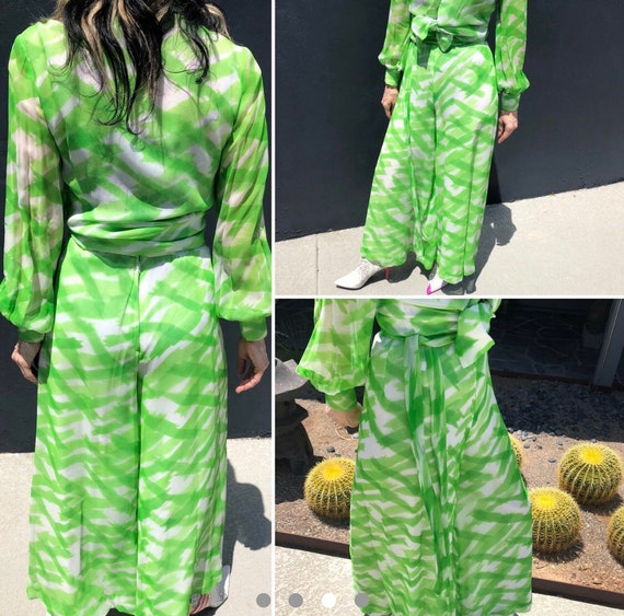 Vintage 70s palazzo pants set by Fred Perlberg gr… - image 2