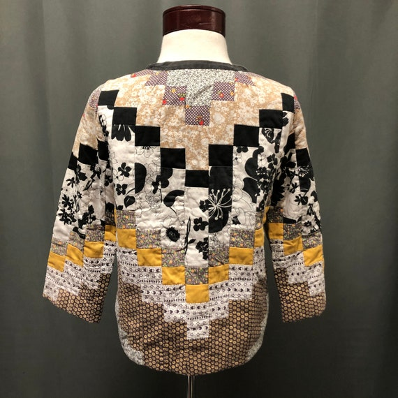 Amazing vintage quilt patchwork jacket quilt coat… - image 3