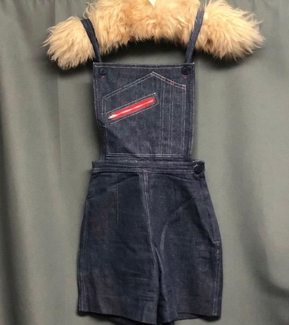 Vintage denim overalls 70s-80s romper