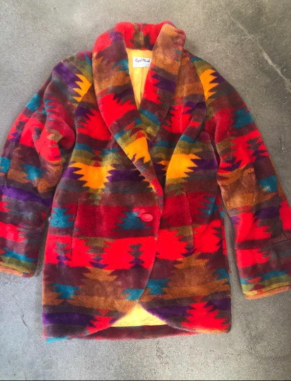 RESERVED ~Vintage Faux fur coat