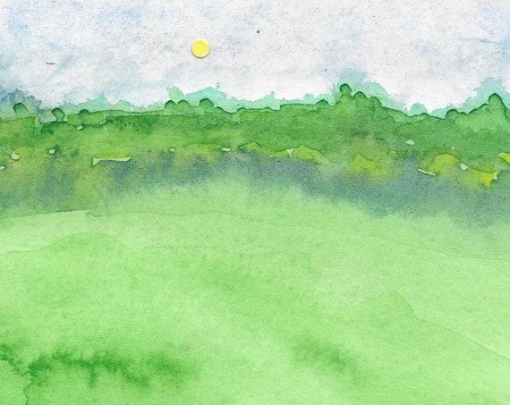 Golf Ball Sun blank notecards