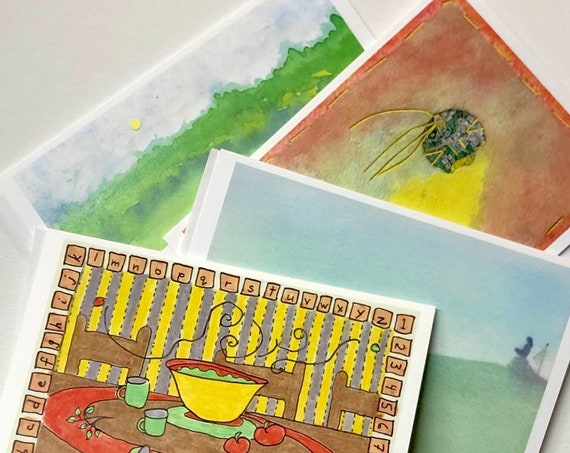 Blank note cards with variety of artwork