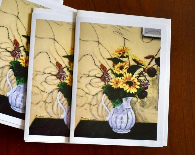Jazzy Sunflowers, notecards