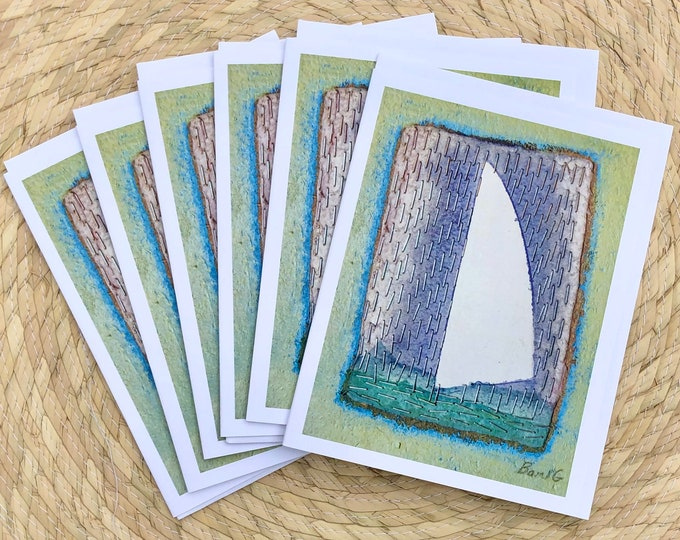 Sail in the Rain blank notecards