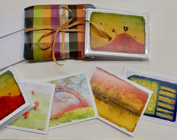 Variety of colorful notecards