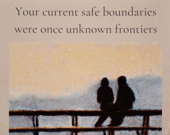 Encouraging quote on original artwork image