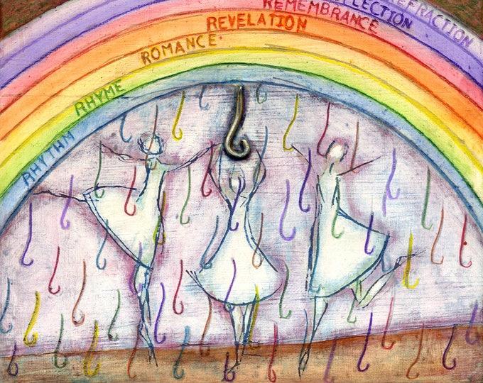 R  is for Rain.  Hand-signed print of original artwork