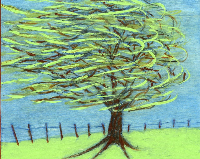 W  is for Wind.  Hand-signed print of original artwork