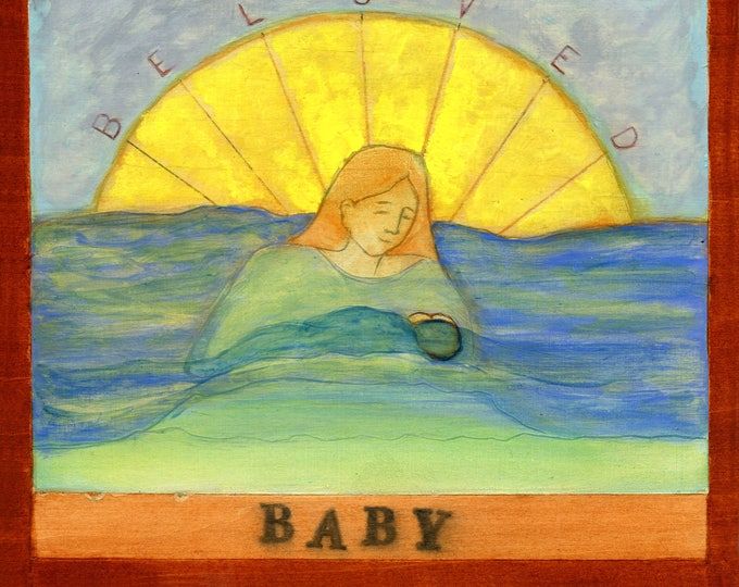 B is for BABY.  Hand-signed print of original artwork