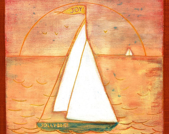 J is for JIB.  Hand-signed print of original artwork