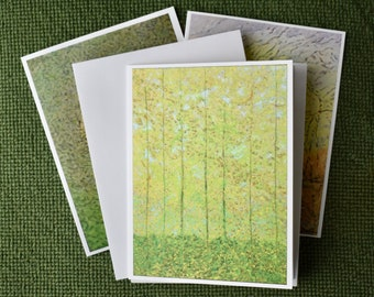 Notecards printed with tree images