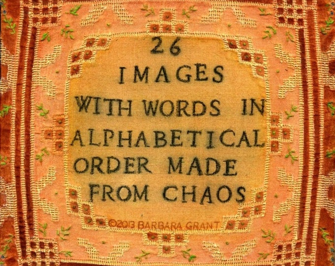 26 Images with Words in Alphabetical Order made from Chaos