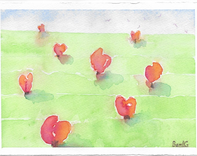 "Notecards of ""Growing Hearts"" painting"