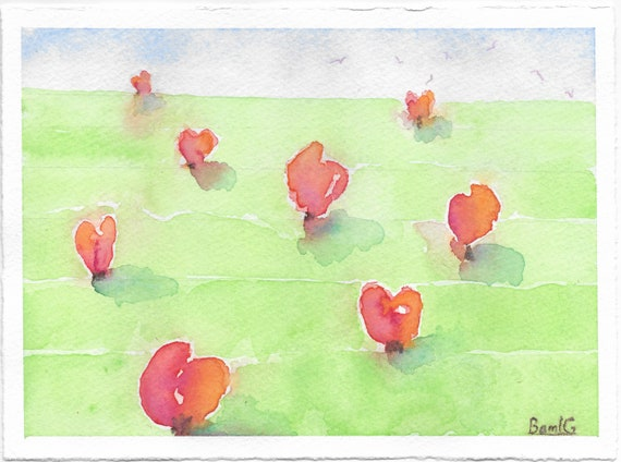 Growing Hearts, notecards