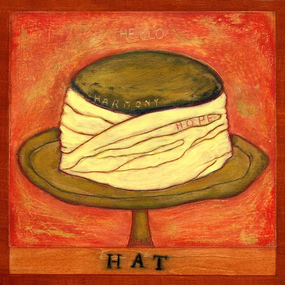 H is for HAT, print