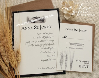 Items Similar To Red Barn Woodland Barn Wedding Invitation