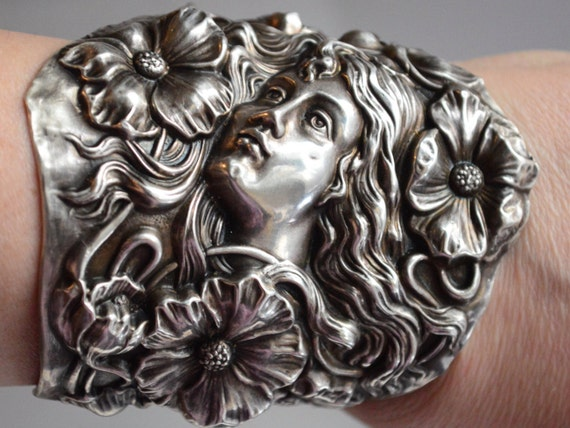 Rapunzel Girl With Long Hair Heavy 3D .925 Solid Sterling Silver Charm USA MADE