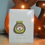 HAND ILLUSTRATED 'Love It Or Hate It Birthday' Marmite A6 Card With Enevelope ONLY 1
