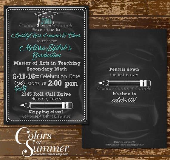 Chalkboard graduation invitation chalkboard grad invite etsy image 0 filmwisefo