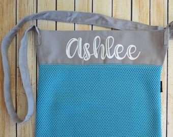 Personalized Mesh Seashell Beach bag
