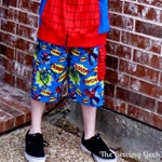Comfy Shorts - Boy's PDF Pattern With Three Pocket Options. Baby Pattern. Toddler Pattern. PDF Sewing Pattern Sizes 3 months - 18