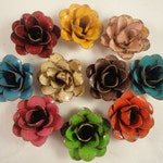 "The ""Mini"" Rustic Hand Painted Metal Rose - Comes in a variety of colors"